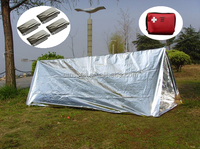 Windtight waterprrof stamped aluminum pup tent for outdoor trip