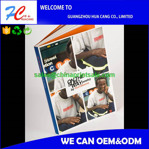 Hot customized nice softcover saddle stitch full color book print on demand