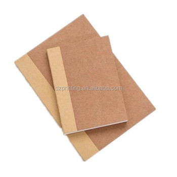 Paper Notebook Manufacturer A4 A5 A6 Kraft Lay Flat Book With Blank White Pages