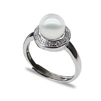 8-9mm round shape peal nature pearl ring mountings