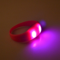 2016 cheapest LED light shock Silicone wristbands for party,music festival use