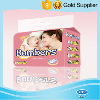 Factory Price Breathable Magic Tape Baby Disposable Diaper In Bale