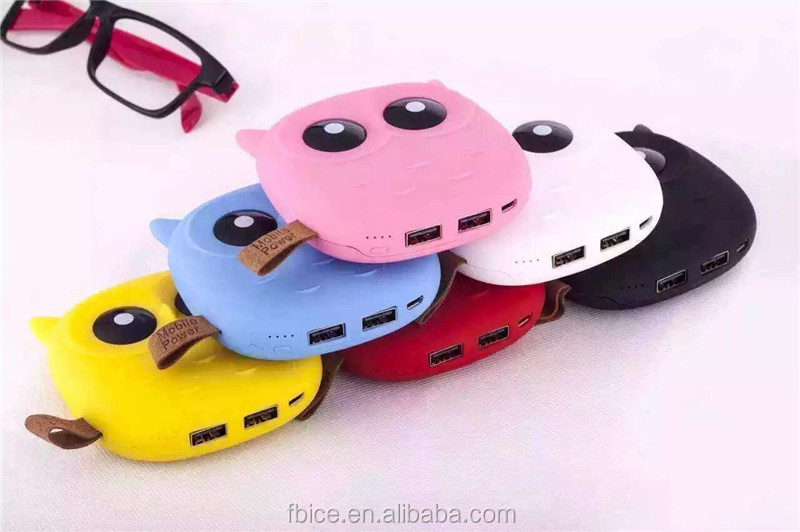 mini cute night owl power bank instant mobile phone charger universal power bank charger