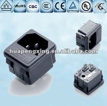IEC Inlet Ac Power Socket With Fuse