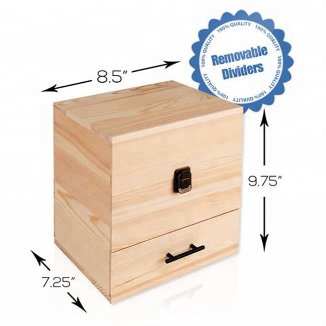 DIY Custom Logo 3-Tier Essential Oil Wood Box Gift Packaging Decor Wholesale