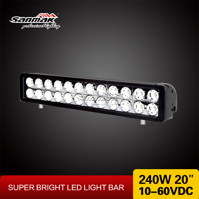 20 240w cree led light bar High intensity 16000 lumen double row waterproof 10w cree led light bar off road