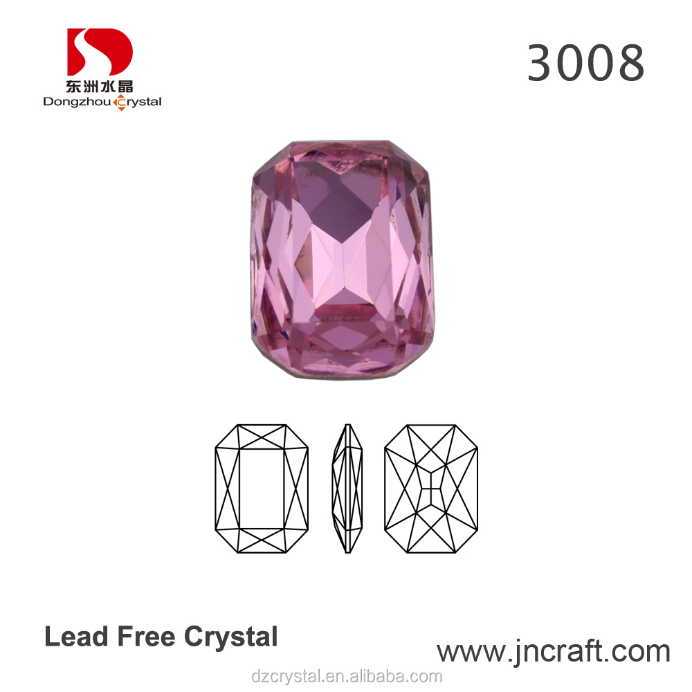 Loose Glass Gemstone Accessories Loose Pink Jewelry Diamond Price