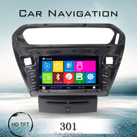 dvd cd multimedia player auto radio 2 din in car gps navigation system for peugeot 301