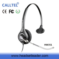 Noise canceling Call Center VOIP Monaural Telephone Headsets with Voice Tube