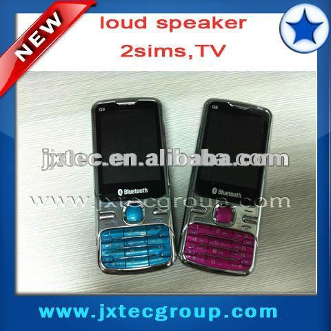 2013 special cellphone wolesale price TV mobile phone Q9