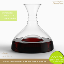 Bulk Mouth Blown Glass Wine Decanter