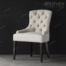 Tufting back nailheads style fabric home furniture dining chair