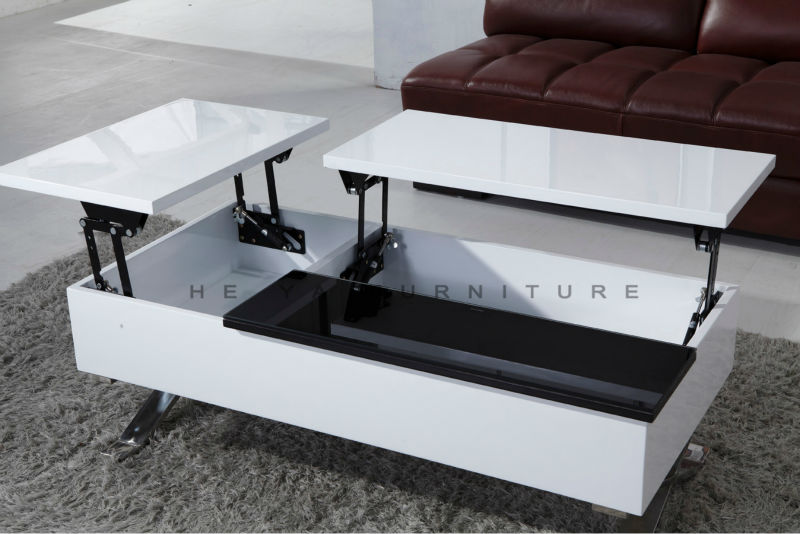 Adjustable height coffee table up and down coffee table buy coffee table up - Table transformable up down ...