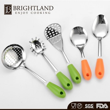 5 Pcs Gadget Slotted Spatula Spoon Cooking Cookware Utensils Tool Set Kitchen