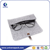 High end most popular small felt bag with leather belt for glasses