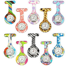 Silicone Fashion Silicone Nurses Watch Brooch Tunic Fob Pocket Stainless Dial Watches