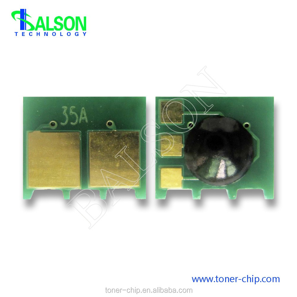 CB435A toner cartridge chip for HP LaserJet P1005 P1006 printer spare parts