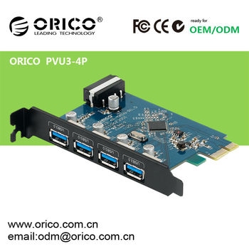 4ports of USB3.0 PCI-E express card with 5.0Gbps high speed
