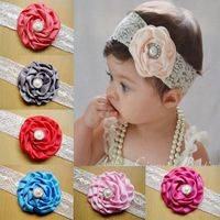 Lovely design big flower infant lace hair band