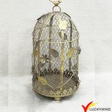 Gold Vintage Metal Wire Floral Wholesale Decorative Bird Cages Wedding