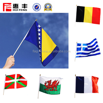 custom polyester hand flag for 2018 world cup