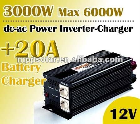 3000w inverter 12V DC to AC 20A battery charger power inverter charger