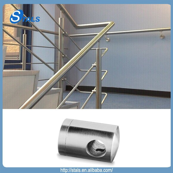 STALS expert manufacturer Stainlelss steel flat crossbar holder for railing
