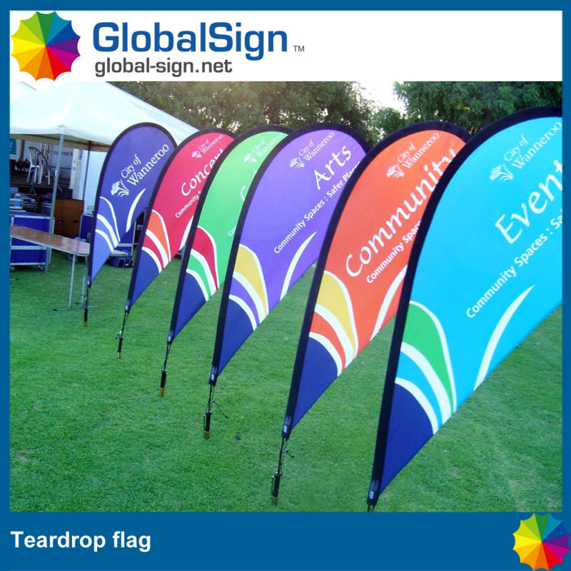 Shanghai GlobalSign cheap promotional flags for event and sports