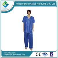 disposable medical chinese collar scrub suit