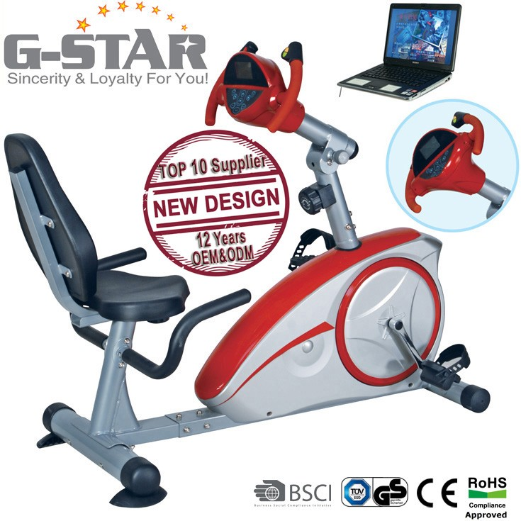 GS-8601RG Very popular Magnetic Recumbent Game Bike for playing