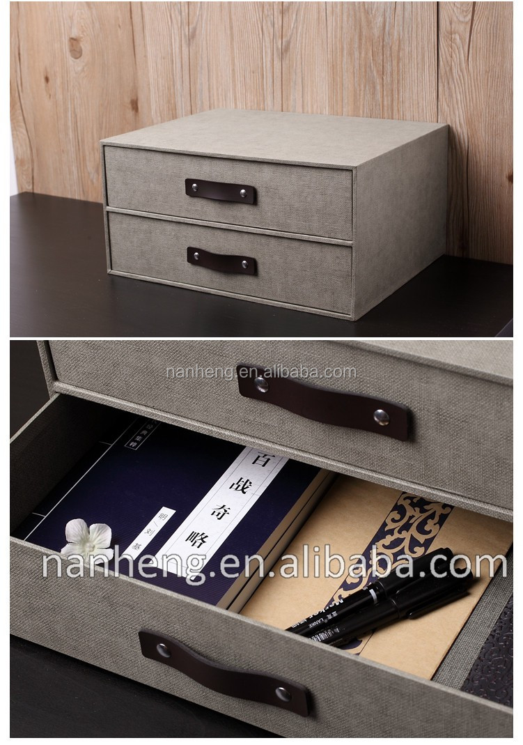 Office Desktop Two Layers Of Paper Drawers Organizer
