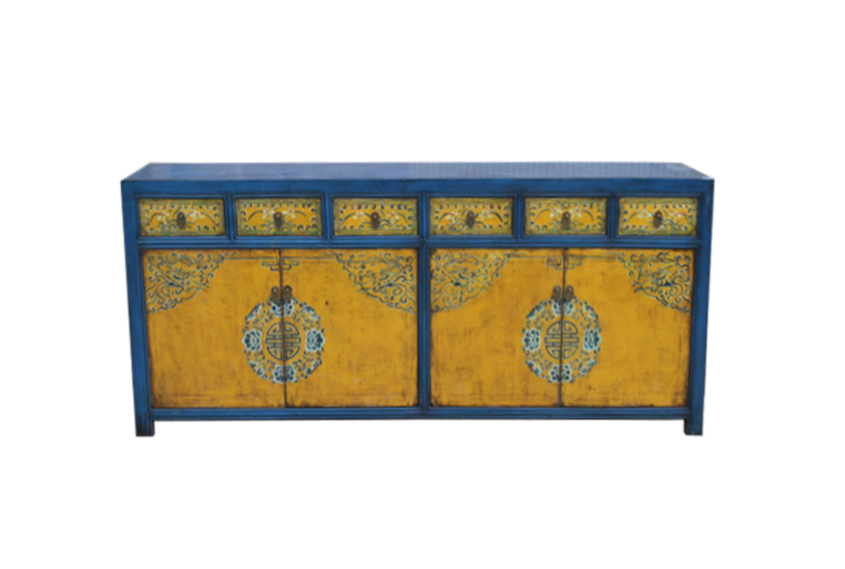Hand painted console cabinet chinese antique reproduction furniture