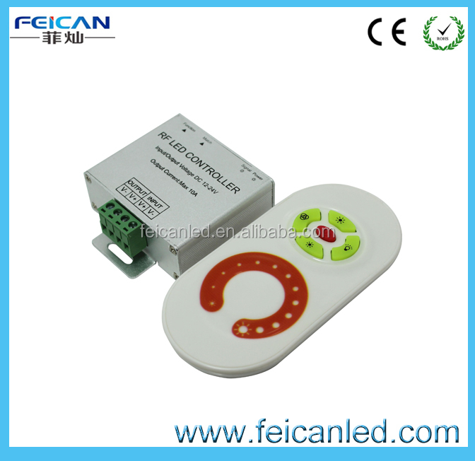 China supplier RF single color dimmer/ DC12-24V touch screen RF single color dimmer