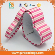 Cardboard C1S Paper Printing Heart Shape Box With Ribbon Tie, Wholesale Printing Custom High Quality Tie Packaging Box