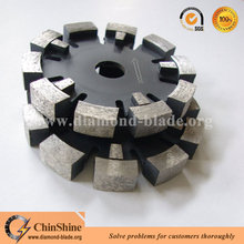Tuck pointed diamond saw blade for concrete grooving with laser welding