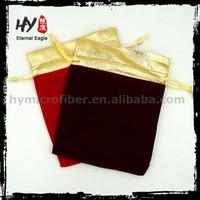 Elegant drawstring pouch for gift, jewelery packaging bag, large velvet bags
