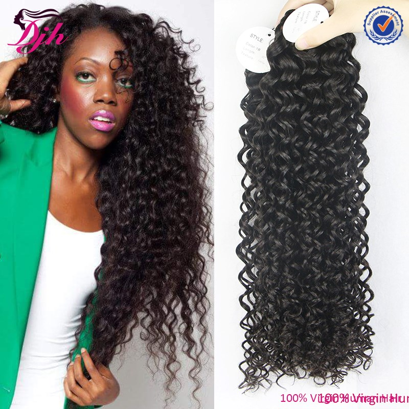 kinky curly hair weave hair extension for Black Women