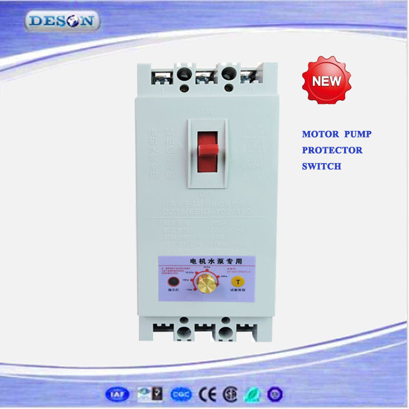 Adjustable Power AC Motor Protector MCCB 1.1kw-11kw, Loss Phase Protector Switch, 3Phase Electronic Protector Switches 380V 40A