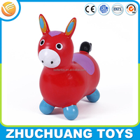 2015 hot sale colorful mini horse plastic animal toys for kids