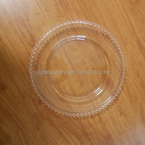 13 inch clear glass plate