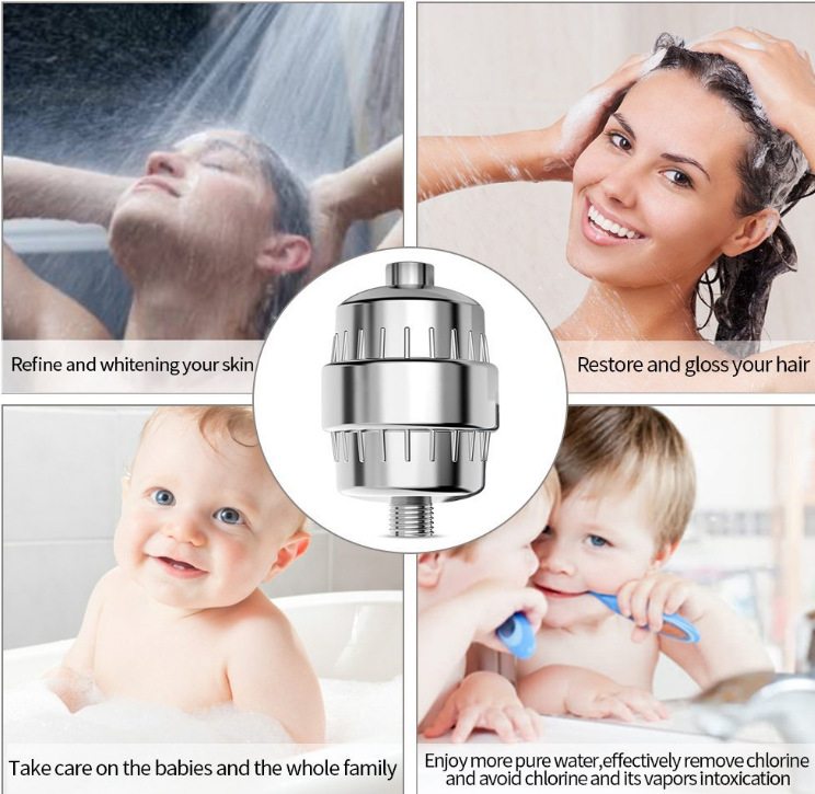 New Styles Ce Certificated Shower Water Purifier Activated Udf-10 Water Filter