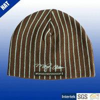 Plus size beanie mens knitting winter hat
