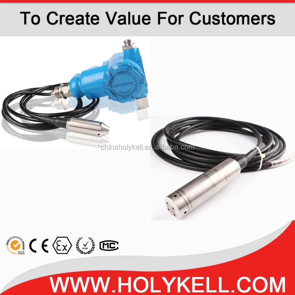 Holykell HPT604 4-20ma Submersible boiler water level sensor 3m