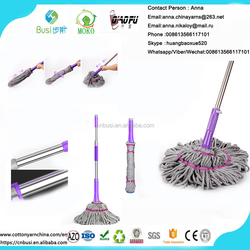 telescopic stainless steel pole long handle style magic mop microfiber twist mop
