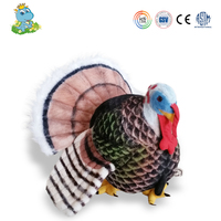 2016 colorful new design turkey stuffed toy animal plush toy