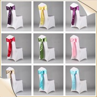 Cheap wedding chair sashes/chair decorative sashes/party rose chair sash brooch