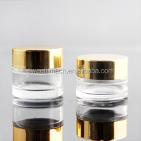 face cream glass jar with gold aluminum cap different capacity