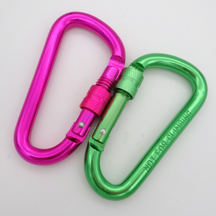 Aluminum D-Ring Snap Spring Hook Carabiner Lock For Climbing Backpack
