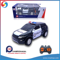 Remote control scale 1:32 4CH metal models police car RC Car ,electric police car toy