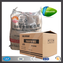 China Fushun fully refined paraffin wax 58-60 slab form